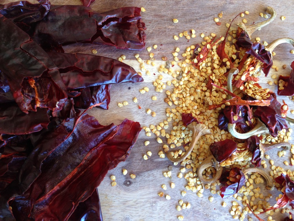 enchilada peppers and seeds
