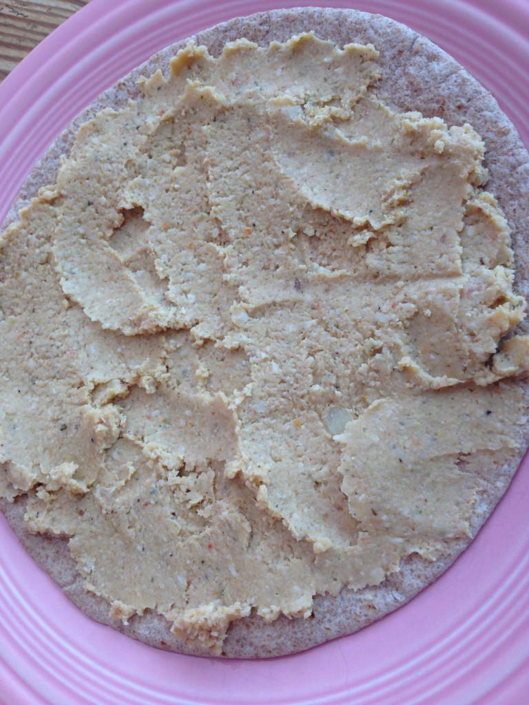 artichoke wrap tortilla w:spread